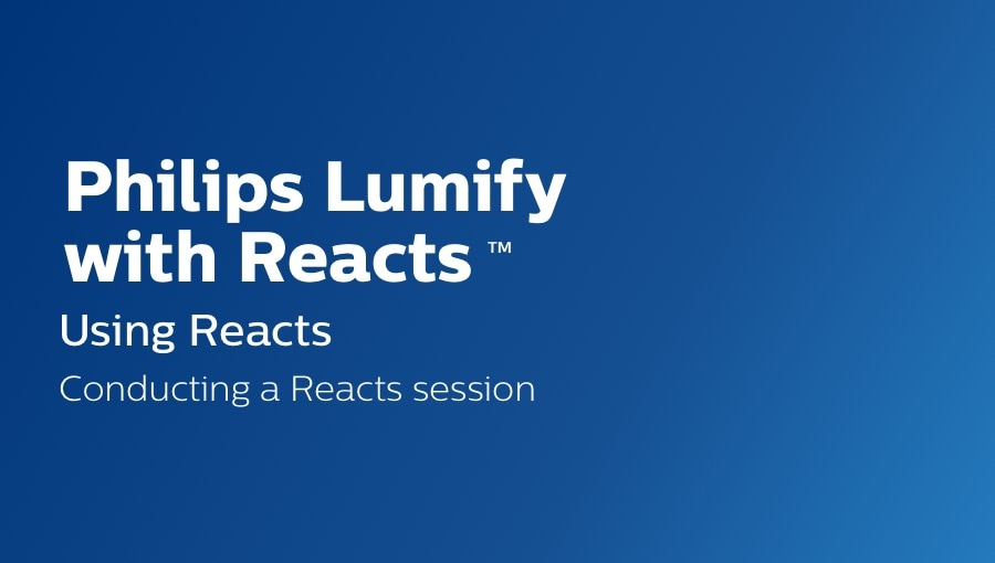 conducting a reacts session