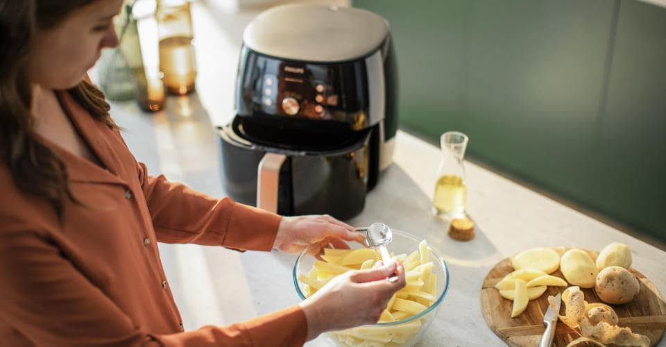 philips airfryer xxl smart HD9860 prajire fara ulei